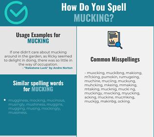 Correct spelling for mucking