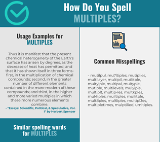 Correct spelling for multiples