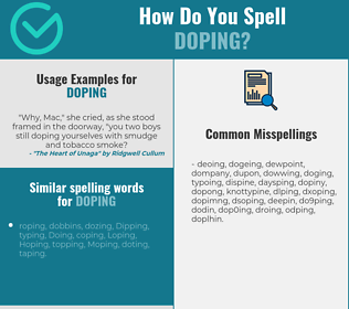 Correct spelling for doping