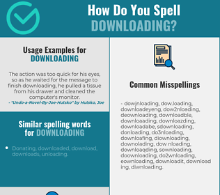 Correct spelling for downloading