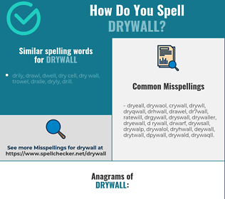 Correct spelling for drywall