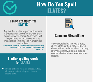 Correct spelling for elates