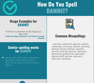 Correct spelling for dammit