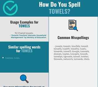 Correct spelling for towels