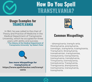 Correct spelling for Transylvania