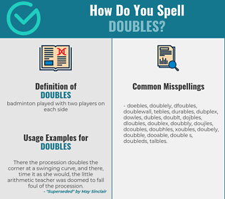 Correct spelling for doubles