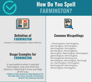 Correct spelling for farmington