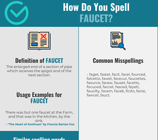 Correct spelling for faucet