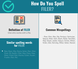 Correct spelling for filer