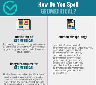 Correct spelling for geometrical