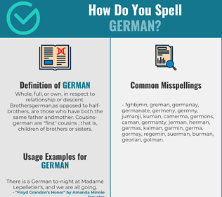 Correct spelling for german