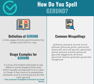 Correct spelling for gerund