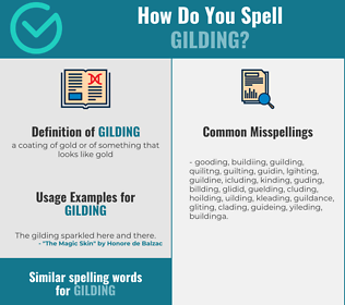 Correct spelling for gilding