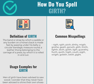 Correct spelling for girth