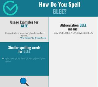 Correct spelling for glee