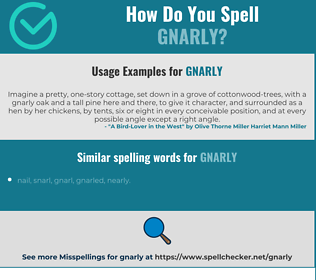 Correct spelling for gnarly