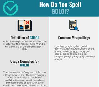 Correct spelling for golgi