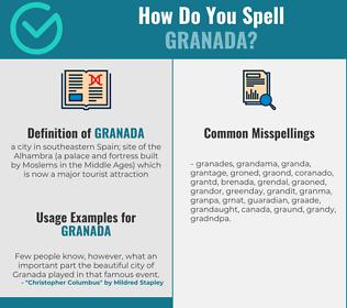 Correct spelling for granada