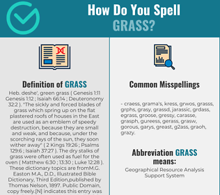 Correct spelling for grass