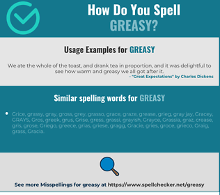 Correct spelling for greasy