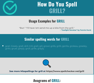 Correct spelling for grill