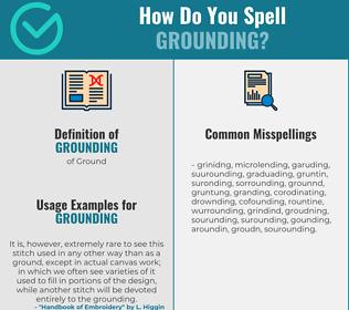 Correct spelling for grounding