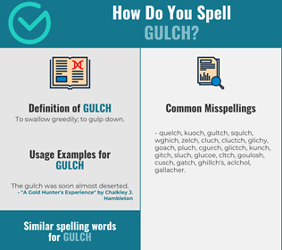 Correct spelling for gulch