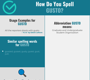 Correct spelling for gusto