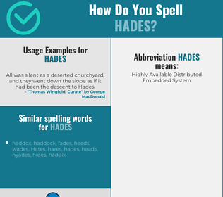 Correct spelling for hades