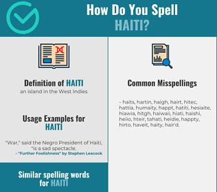 Correct spelling for haiti