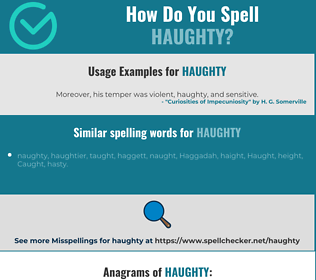 Correct spelling for haughty