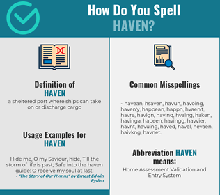 Correct spelling for haven