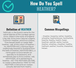Correct spelling for heather