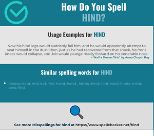Correct spelling for hind
