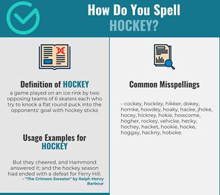Correct spelling for hockey
