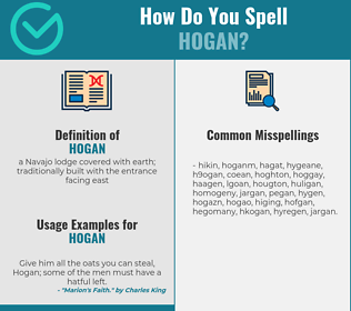 Correct spelling for hogan