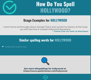 Correct spelling for hollywood