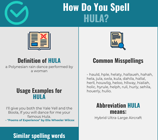 Correct spelling for hula