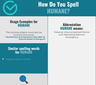 Correct spelling for humane