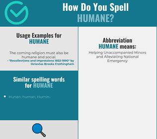 Correct spelling for humane