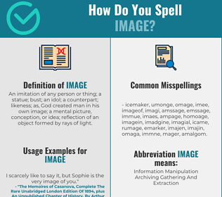 Correct spelling for image