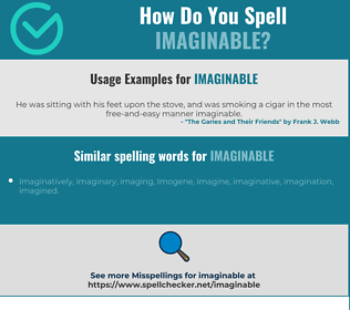 Correct spelling for imaginable