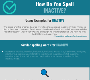 Correct spelling for inactive