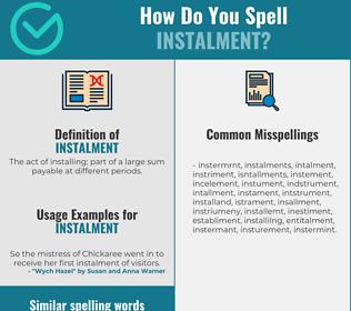 Correct spelling for instalment