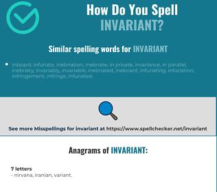 Correct spelling for invariant