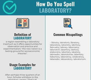 Correct spelling for laboratory