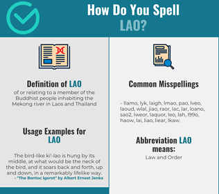 Correct spelling for lao
