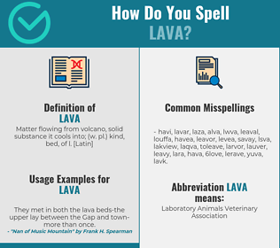 Correct spelling for lava