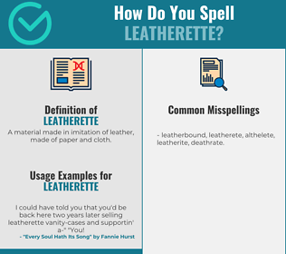Correct spelling for leatherette