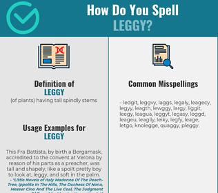 Correct spelling for leggy